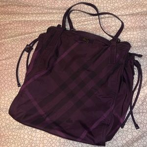 Burberry Purple Tote Bag